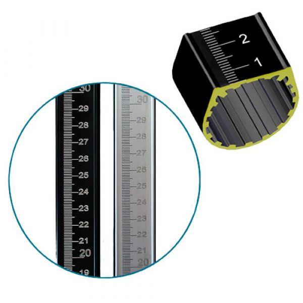Метрошток чорний МШІ 2,5 м. (1 ланка)